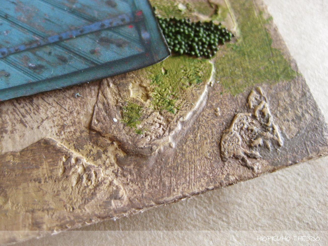 Текстура камней с помощью структурной пасты
