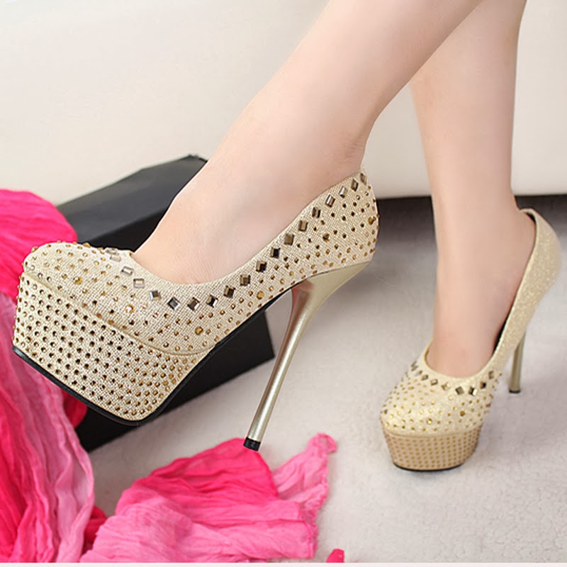 Awesome 2014 New Lady Women39s Sexy High Heels Sandals Platform Sandals Buckle