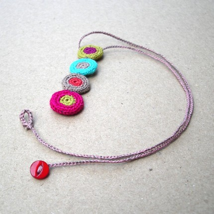 Crochet Stitches Jewelry : PATTERNS OF NECKLACE CROCHET CROCHET