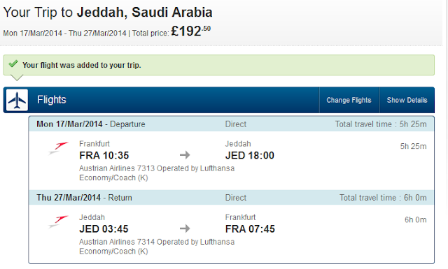 Low cost flight to Saudi Arabia Jeddah