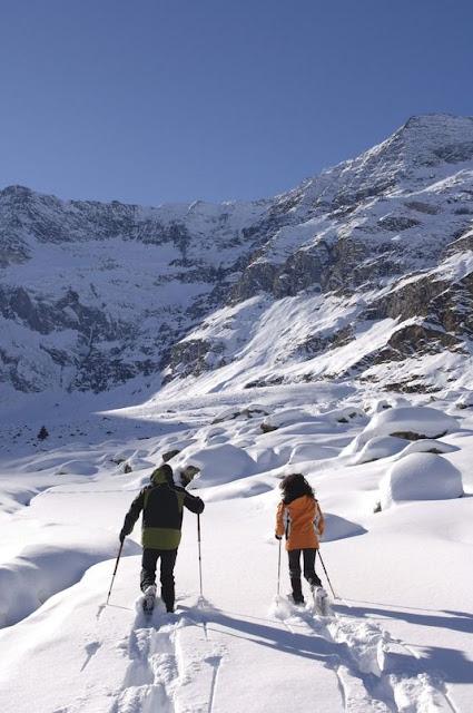Eine atemberaubende Schneeschuhwanderung in Pfelders im Passeiertal...
