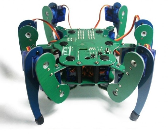 Robot labah-labah 'iitsii hexapod'.