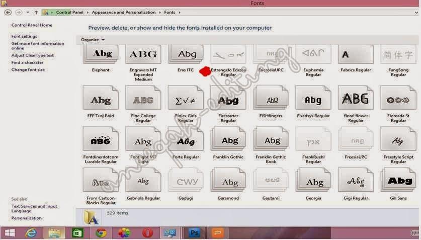 cara install font baru dalam laptop (5)