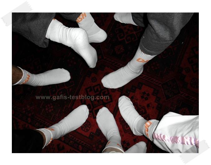 Dash weiße Socken Party