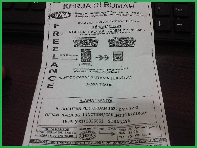 PT.Hadena Indonesia Penipuan