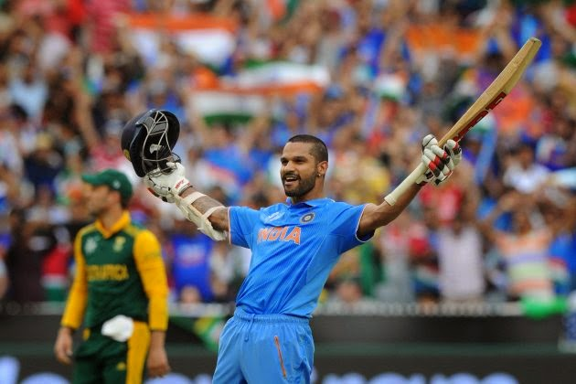 Shikhar Dhawan ton help India beat South Africa in World Cup 2015