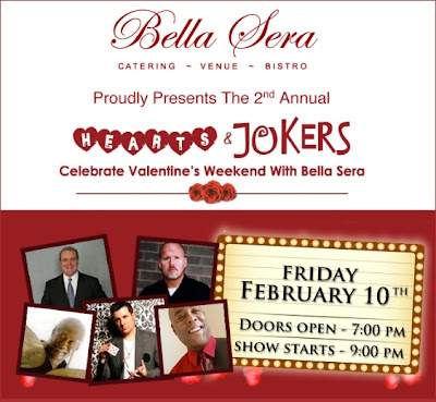 Hearts and Jokers, Bella Sera, Valentine's Day, Pittsburgh, David Michael, Lee Terbosic, Shaun Blackham, Eric Johnson, Roger Humphries, talent network