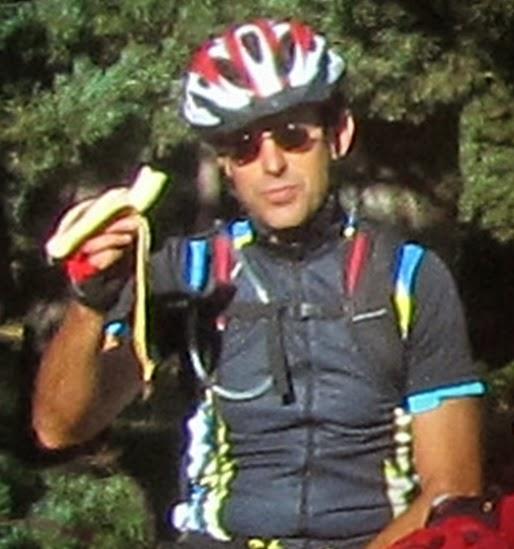 Plátano y ciclistas - Alfonsoyamigos