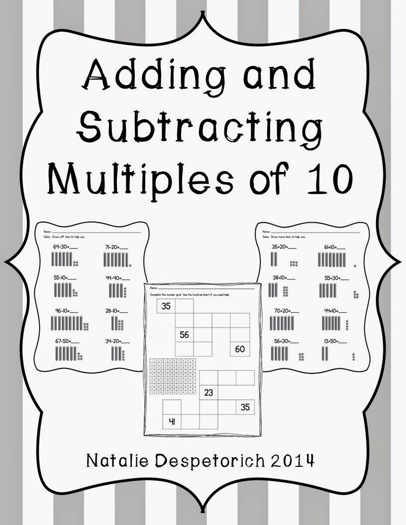http://www.teacherspayteachers.com/Product/Adding-and-Subtracting-Multiples-of-10-1st-Grade-Common-Core-Aligned-1220378