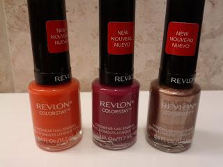 Revlon ColorStay LongWear Nail Enamel - Marmalade, Wild Raspberry, Fall Mood