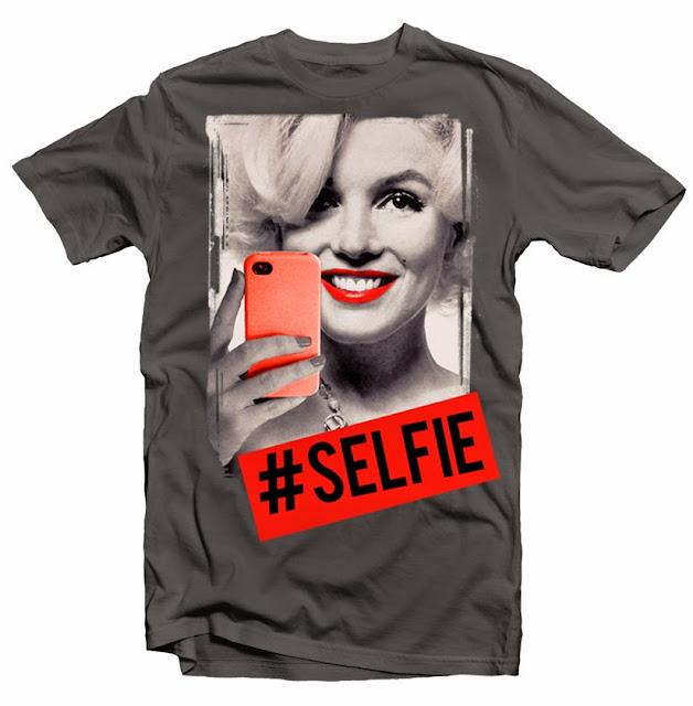 marilyn monroe selfie funny tshirt