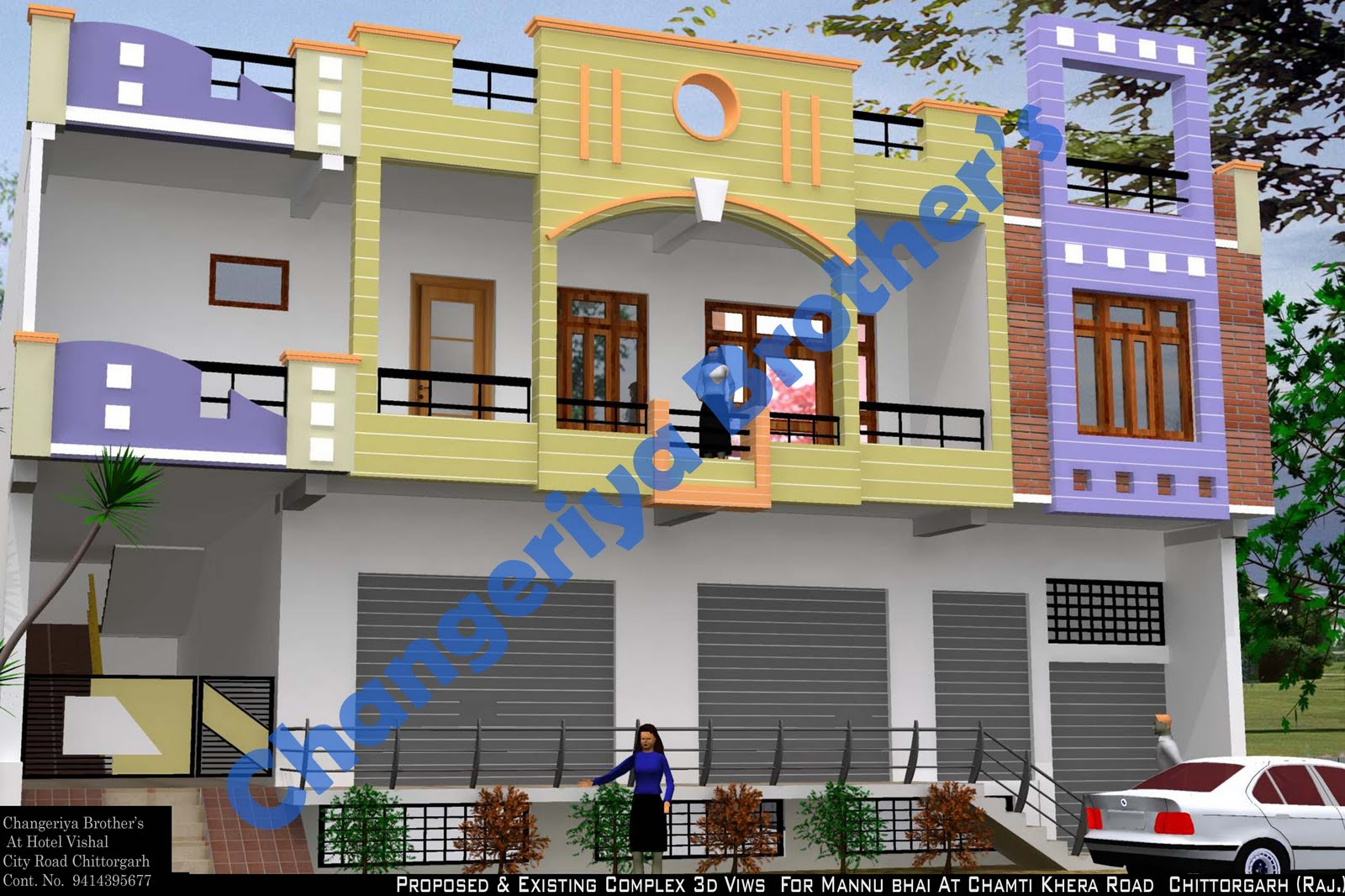 Mr Mannu Bhai 39 S Complex Project Exterior Design In 3d