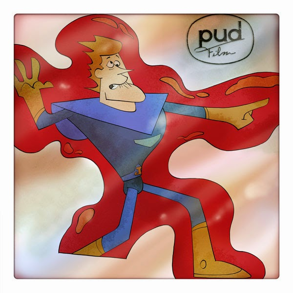Spaceman Jax and the galactic adventures - animation cell  with Pud Film logo - Curio and Co. OG www.curioandco.com - Design and Illustration by Cesare Asaro - Character frozen in energy field