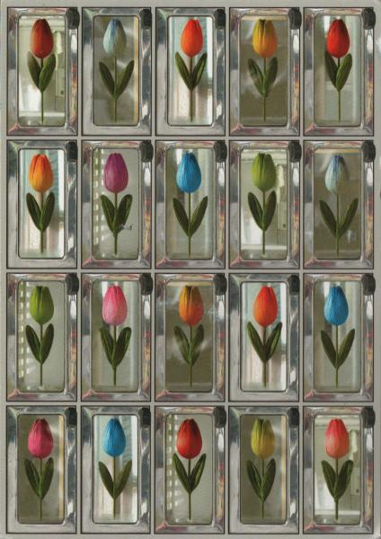 vending machine stocked with single tulips