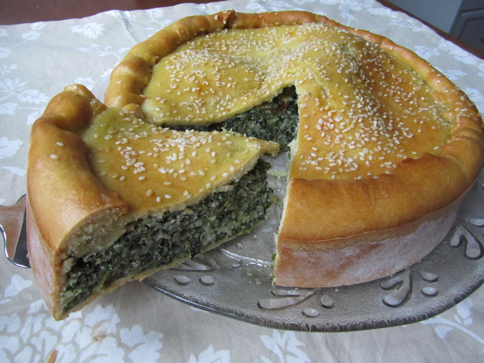 Loaves n Dishes: SPINACH AND RICOTTA PIE (Pizza Rustica, Easter Pie))