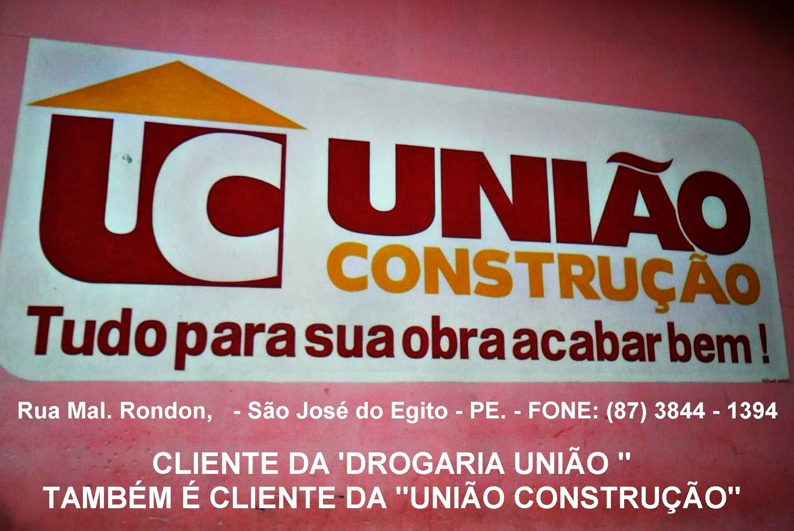 UNIÃO CONSTRUÇÃO - São José do Egito - PE.