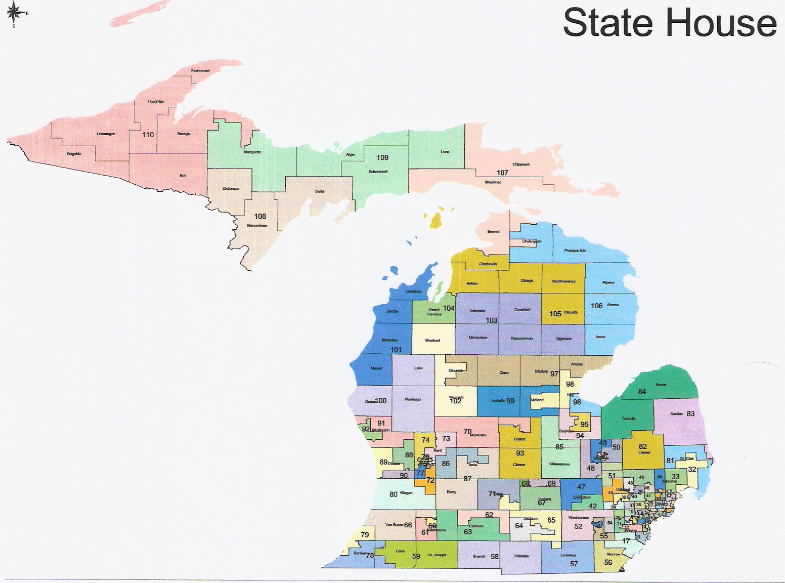 Conservative First Right Michigan - Map us house of representatives