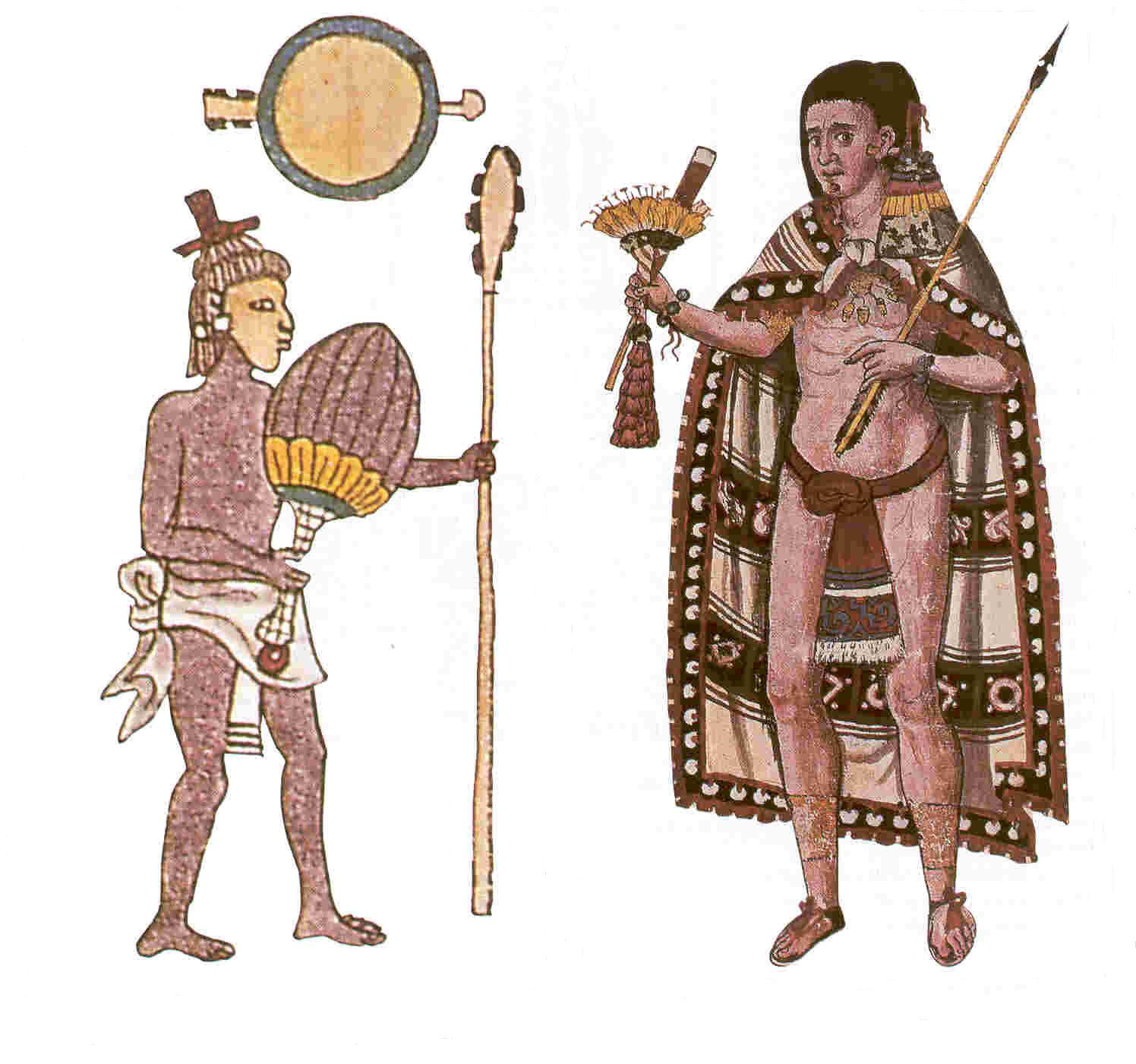 aztec men The aztec men wore loincloths and long capes the women wore long skirts and blouses poor people generally wove their own cloth and made their own clothing it was the responsibility of the wife to make the clothes women's clothing from the florentine codex men's clothing.