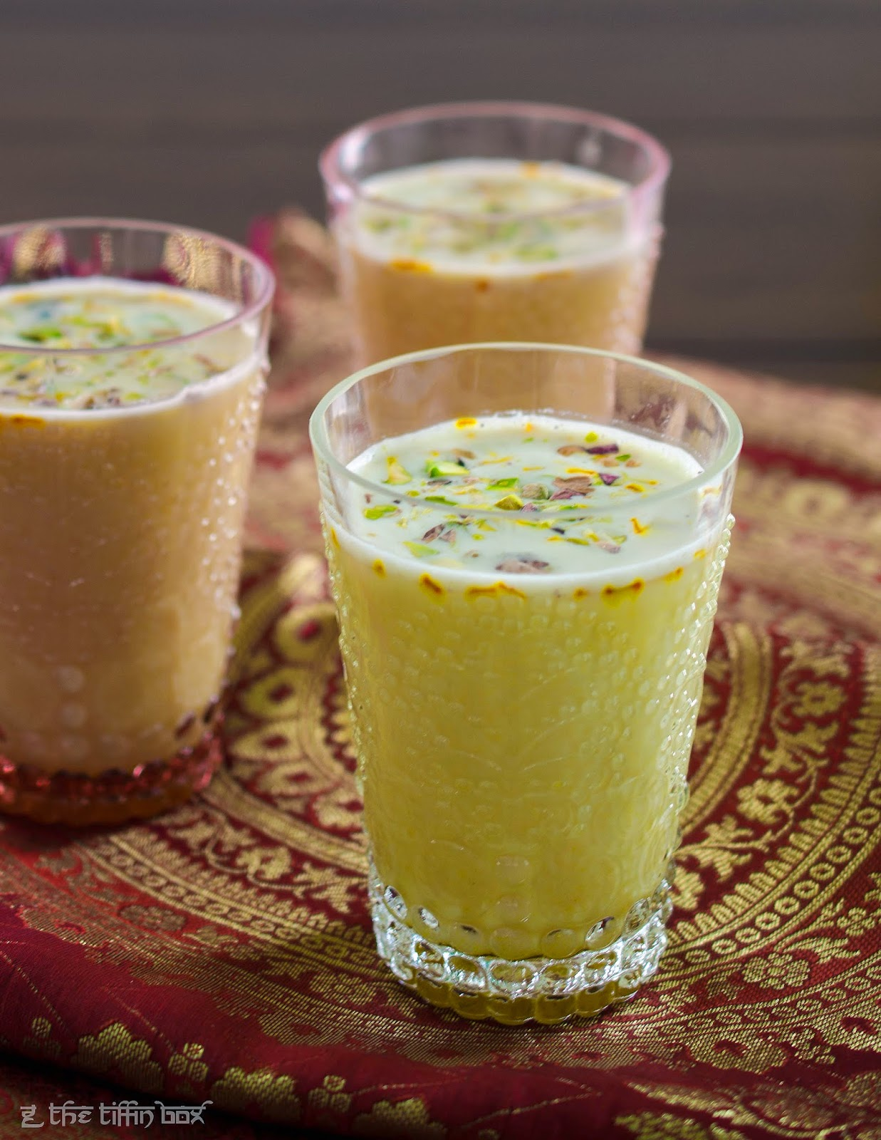 indian festival specials - thandai (spiced chilled milk) for holi