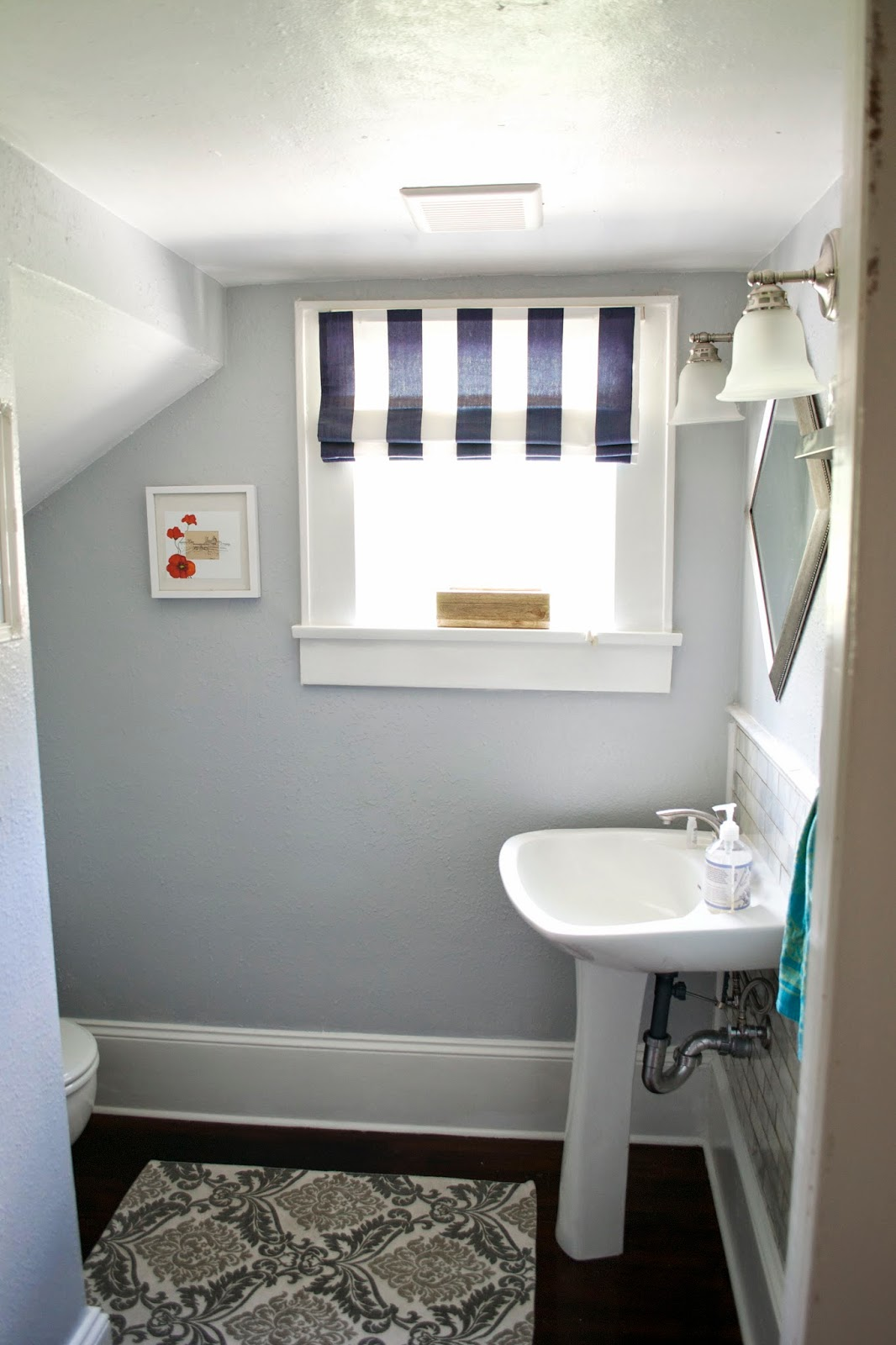 Seesaws And Sawhorses Bathroom Under The Stairs Finally Finished