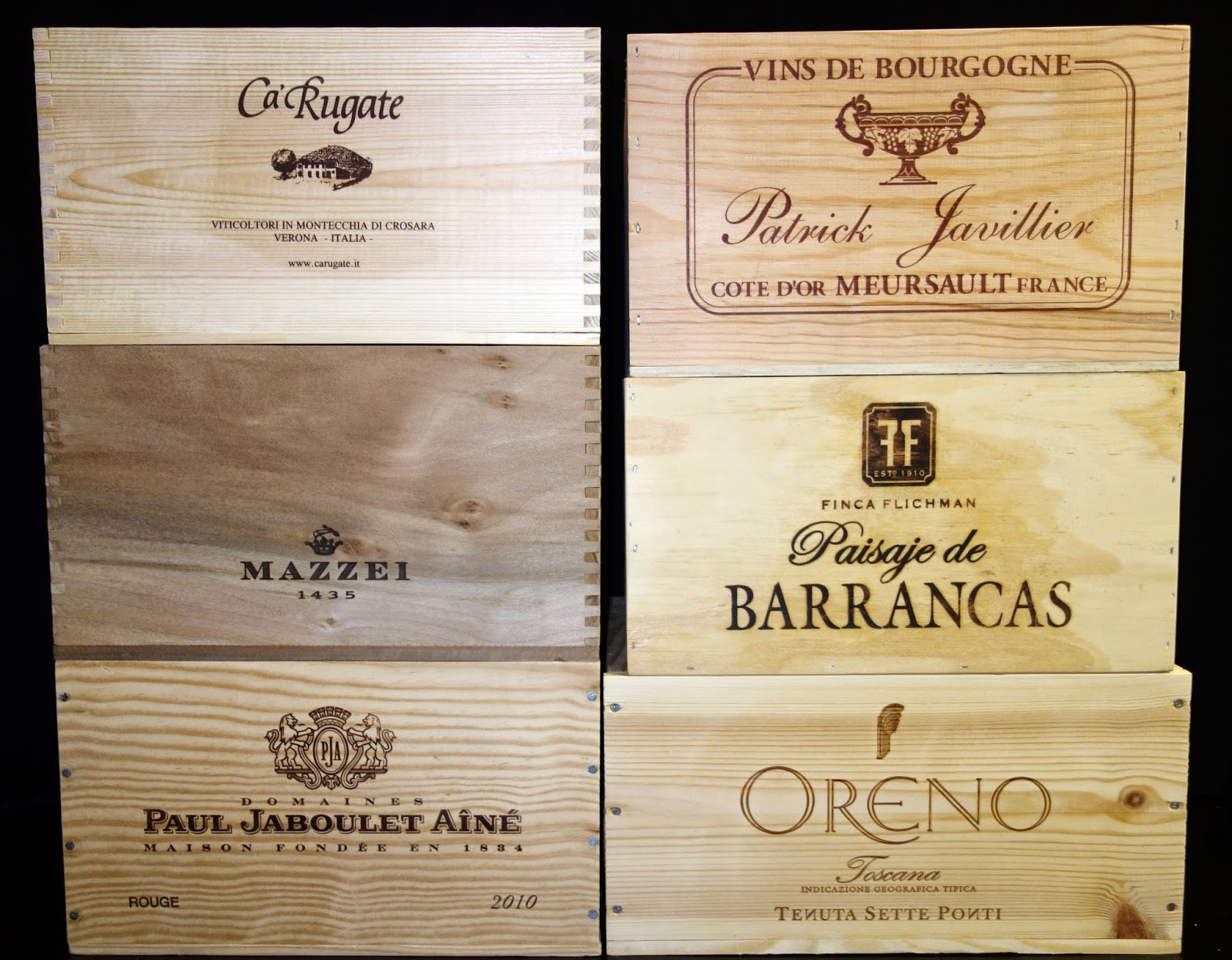 Design Wine Crates wooden wine boxes crates june 2014 assorted original 6 bottle from various countries