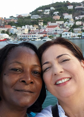DENISE AND ANGIE; @ 'GONE GREEN', GRENADA
