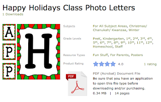 http://www.teacherspayteachers.com/Product/Happy-Holidays-Class-Photo-Letters-970824