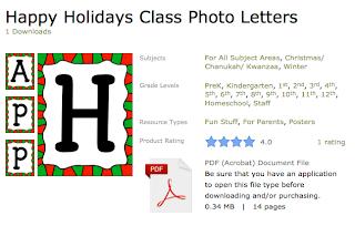 http://www.teacherspayteachers.com/Product/Happy-Holidays-Class-Photo-Letters-970824