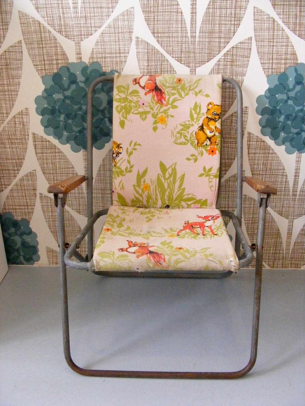 Vintage camping chair - Vintage Child S Camping Chair