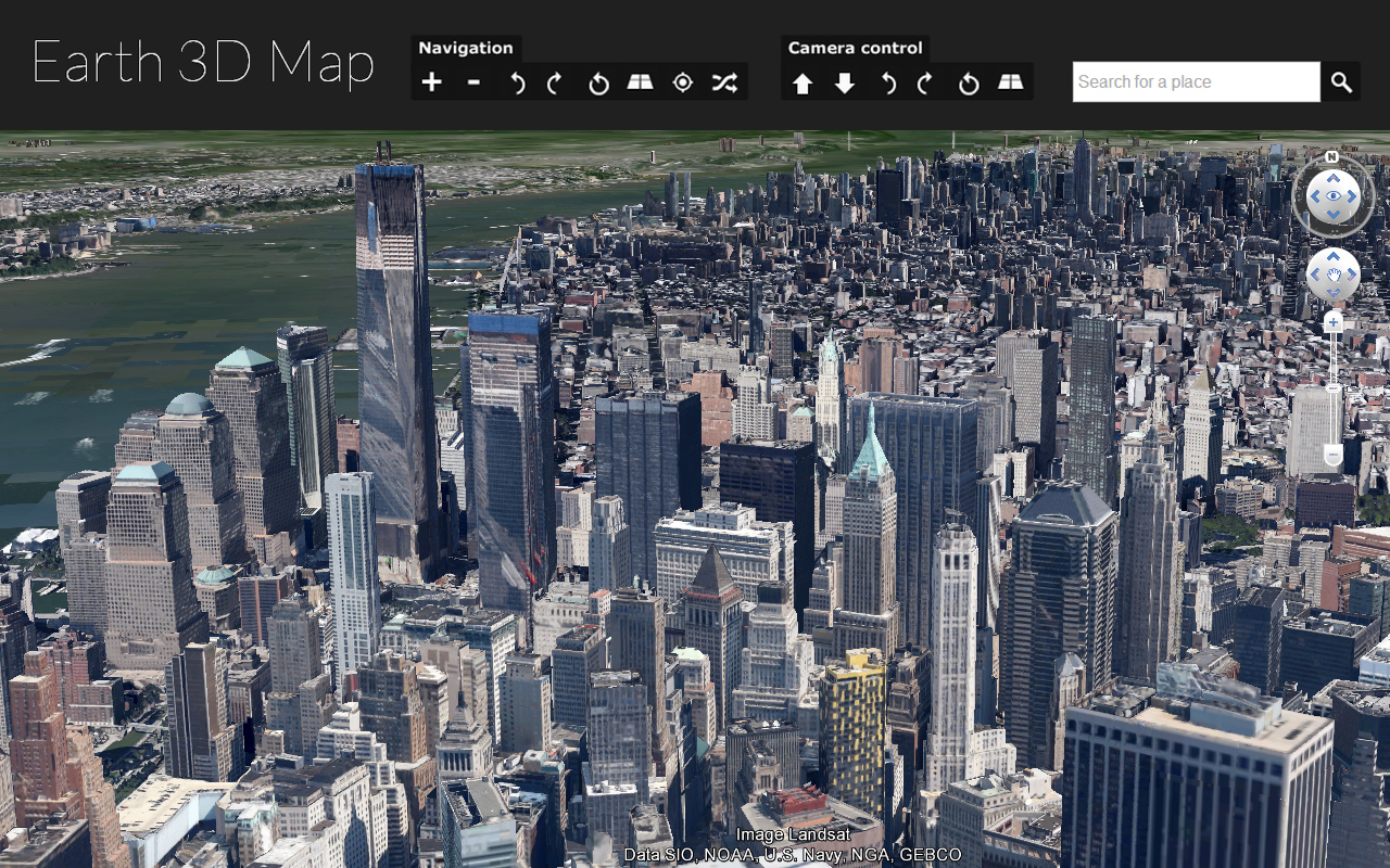 Earth 3D Map : How to navigate in Earth 3D Map