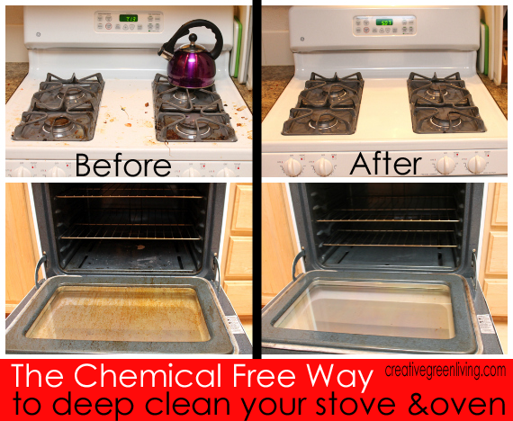 how to deep clean your oven stove without harsh