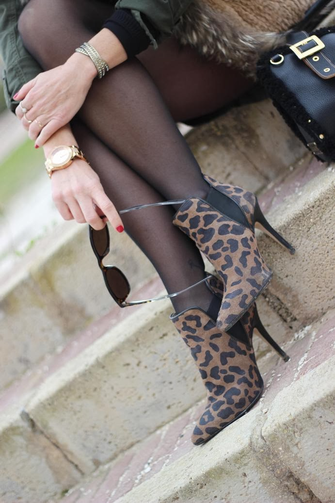 Botines Leopardo - Gafas carrera - pulseras cuchicuchi