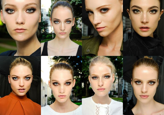 fashion, beauty, couture, haute couture, models, versace, fashion week, eyes, eyeliner,pfw, paris fashion week, paris, luxury, makeup cosmetics, backstage, style, style.com, collage, fashion collage