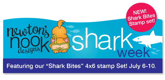 Shark week at Newton's Nook Designs | Shark Bites Stamp set