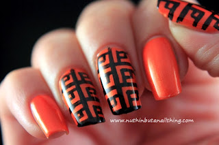 patterned nail art