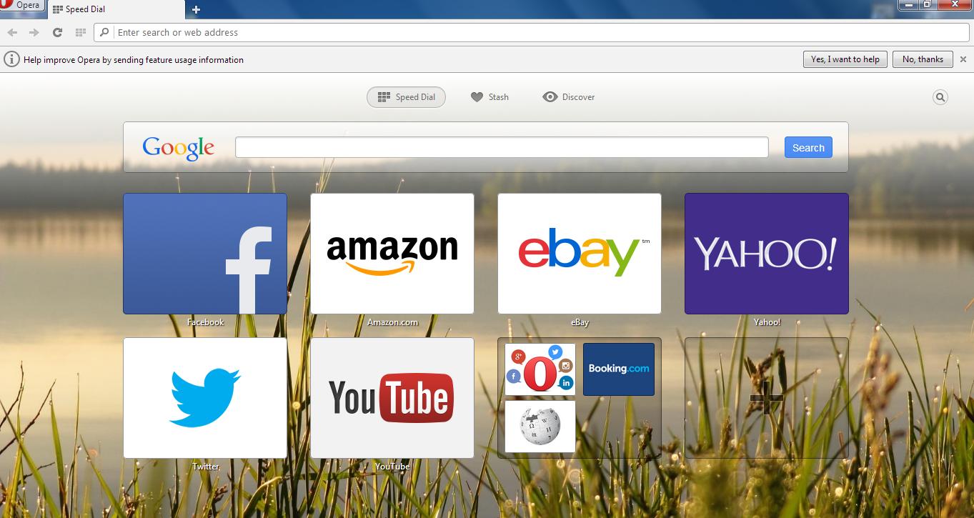 Opera Browser Version 22.0