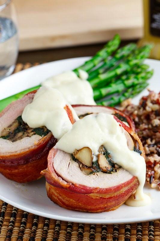 Mushroom stuffed pork fillet recipes