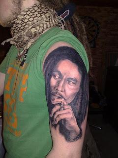fotos de Tatuagens do Bob Marley