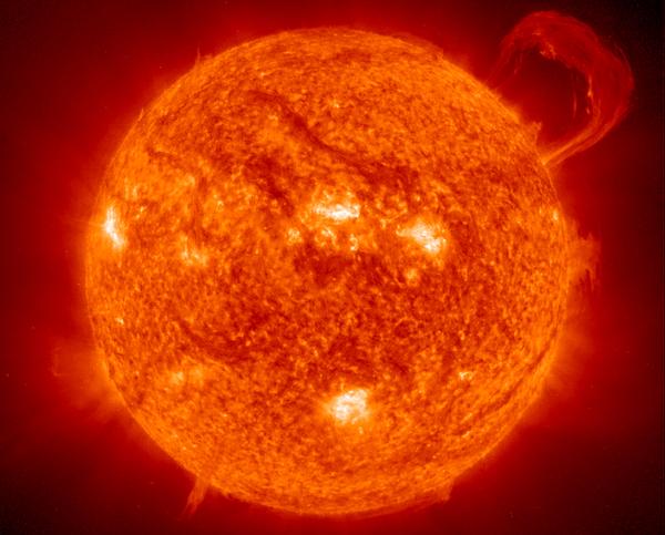Foto del astro rey el sol