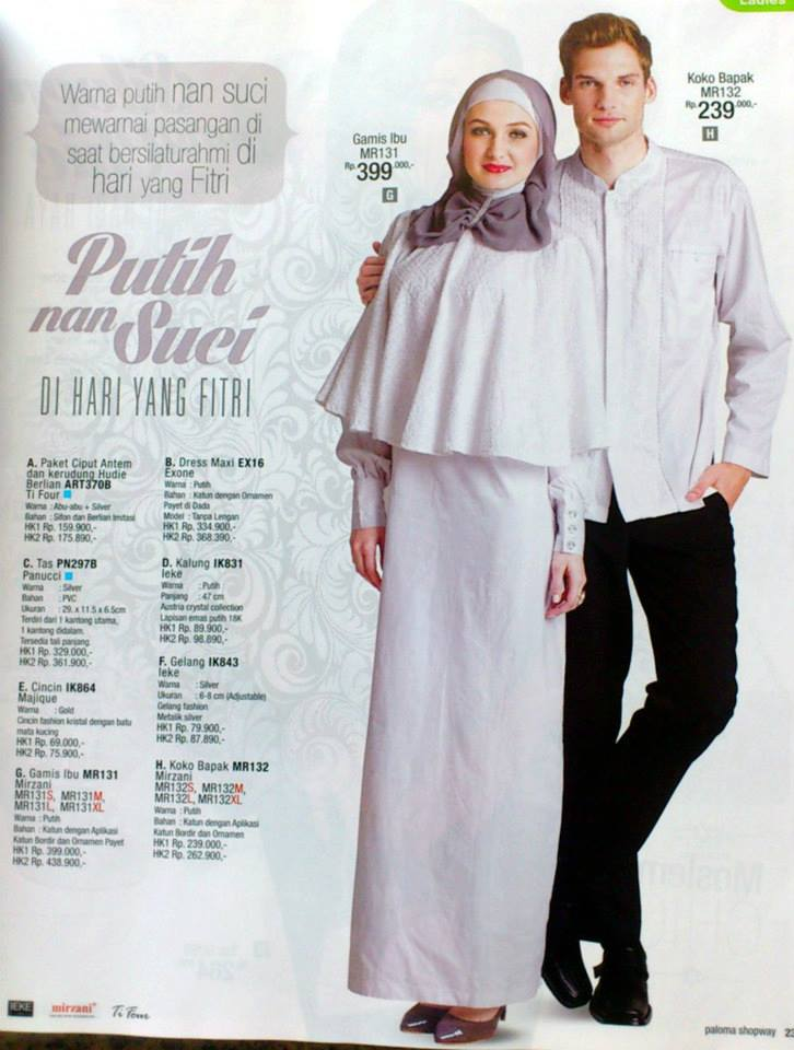 Baju muslim sarimbit nuansa putih Baju couple gamis dan koko