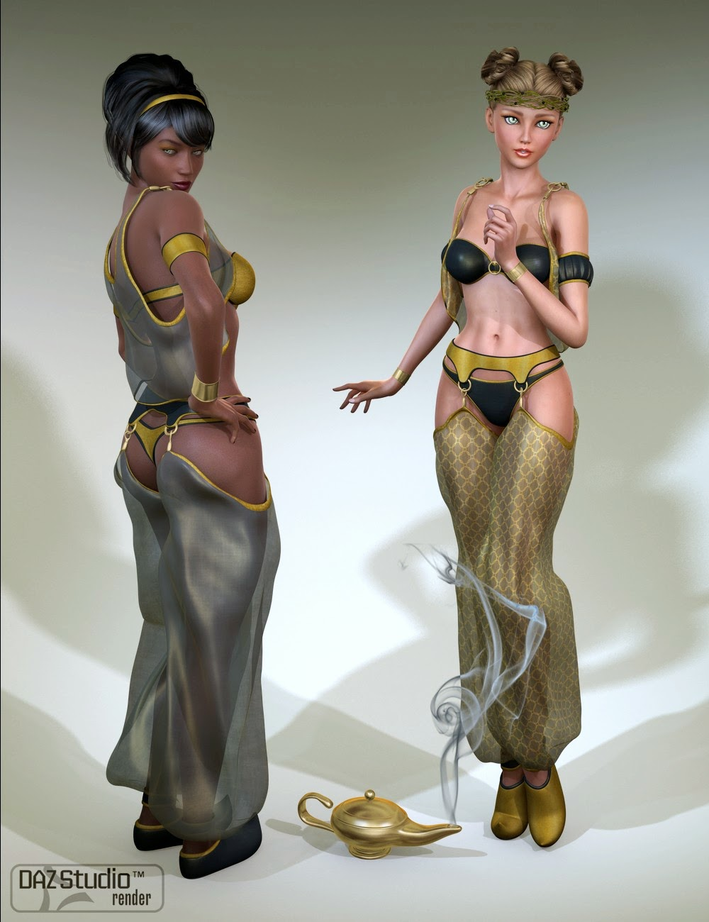 As You Wish: Genie Outfit for Genesis 2 Female