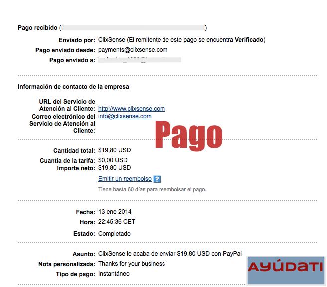 2º Pago ClixSense! $20 2+pago+clixsense