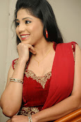 Ziya Khan Glamorous Photos in Red-thumbnail-10