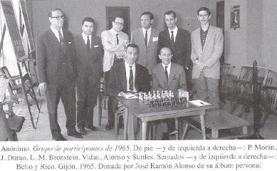 Participantes en el Torneo Internacional de Ajedrez de Gijón 1965