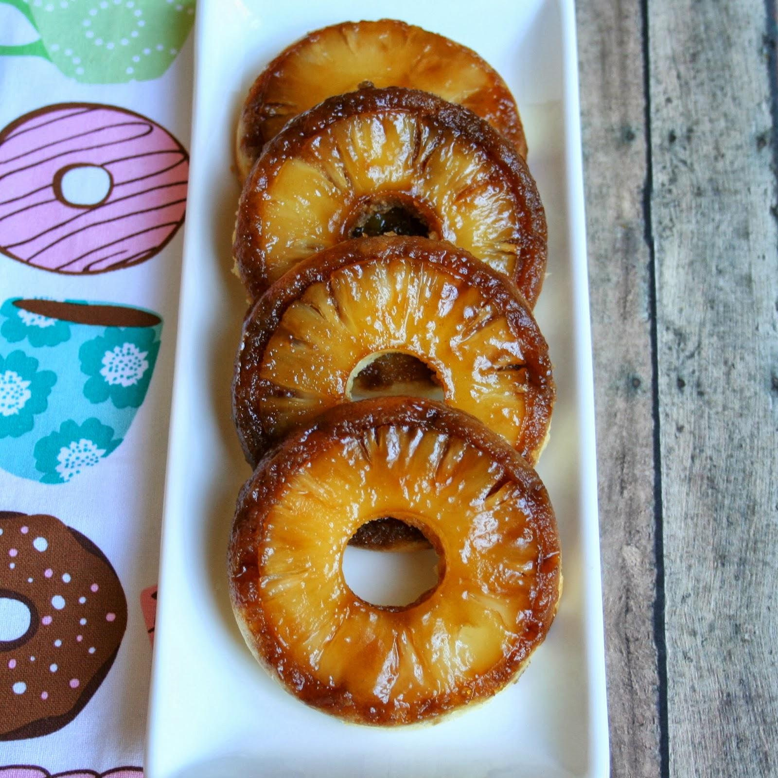Pineapple Upside Down Cake Doughnuts
