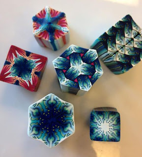 Beautifully Intricate polymer clay canes made by Cara Jane