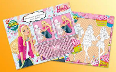 Jollibee party package - Barbie theme tray liners