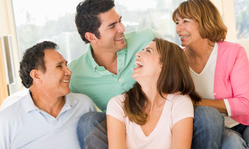 7 Ways to Tell Your Parents About Her,happy family mother father son daughter