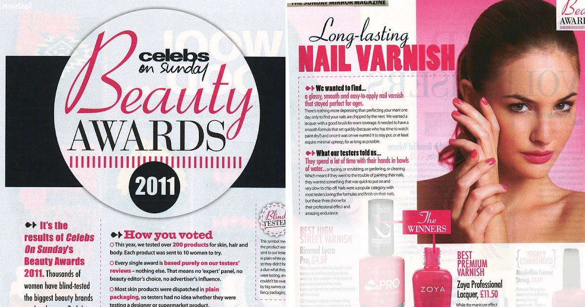 Zoya Nail Polish Blog Sunday Mirror Beauty Awards