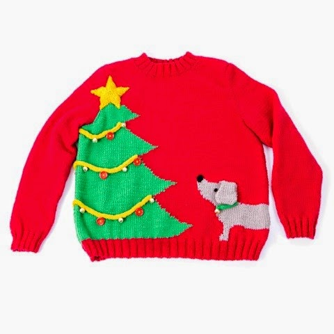 http://www.deramores.com/christmas-tree-dog-jumper-pattern